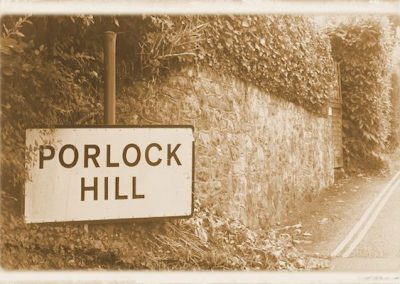 Porlock Hill Sign