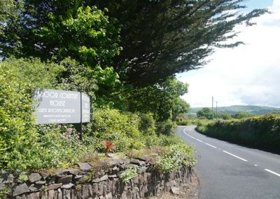 Exmoor House Roadside Entrance